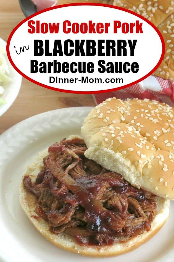 Slow Cooker Pork in Blackberry Barbecue Sauce