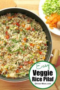 Easy Veggie Rice Pilaf Pin