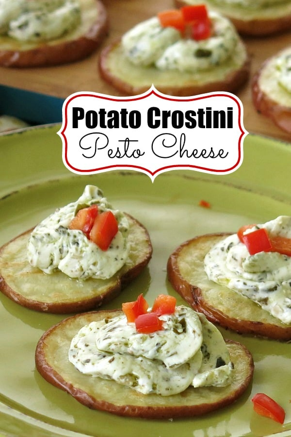 Potato Crostini Pesto Cheese Pinterest