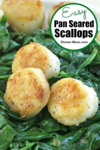 Easy Pan Seared Scallops Pin