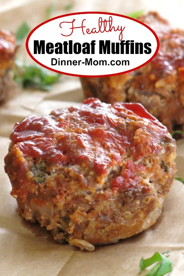 Healthy Meatloaf Muffins with Sun-dried Tomatoes and Cheese is practically gourmet. Easy, gluten-free recipe that is a family favorite! #healthymeatloafmuffins