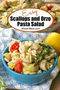 Scallops and Orzo Pasta Salad Pin