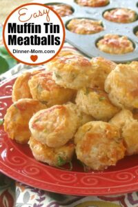 Easy Muffin Tin Meatballs Pin