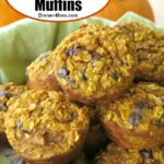 Basket of Healthy Oatmeal Pumpkin Muffins