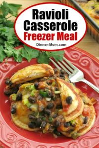 Ravioli Casserole Freezer Meal Pin