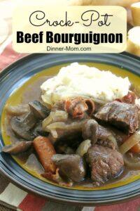 Crock Pot Beef Bourguignon Pin