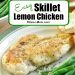 Easy Skillet Lemon Chicken Recipe Pin