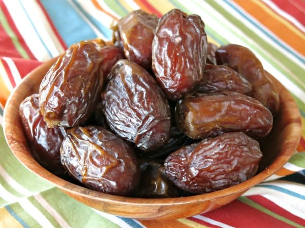 Bowl of Medjool dates