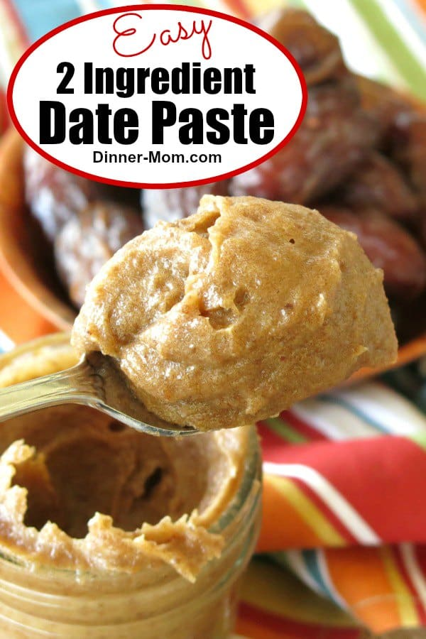 Learn how to make date paste using Medjool or Deglet Noor dates. It will become your favorite healthy sweetener! #datepaste #medjooldates