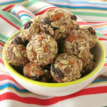 Carrot Cake Balls in a bowl