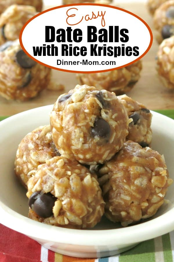 Easy Date Balls with Rice Krispies Pin