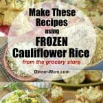 Frozen Cauliflower Rice Recipes Pin