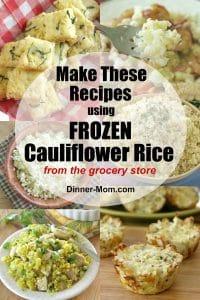 Frozen Cauliflower Rice Recipes Pin