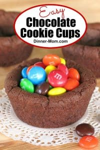 Easy Chocolate Cookie Cups Pin
