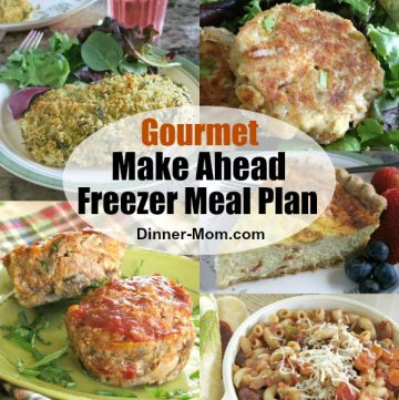 Collage of Gourmet Make Ahead Freezer Recipes