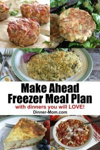 Make Ahead Freezer Meal Plan