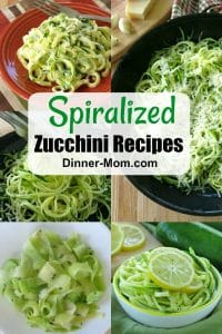 Collage of Spiralized Zucchini Recipes