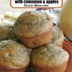 Plate of butternut squash muffin with cinnamon and apples