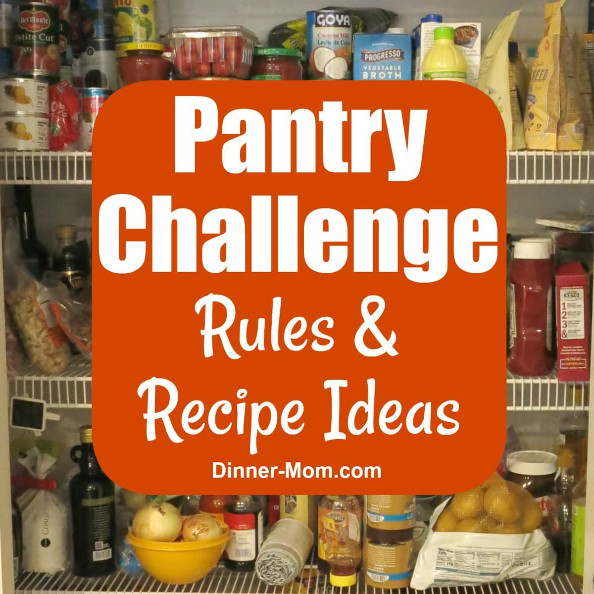 Open Pantry with Graphic for Rules and Recipes
