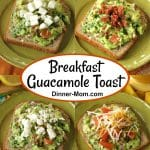 Collage of Guacamole Toast with different toppings