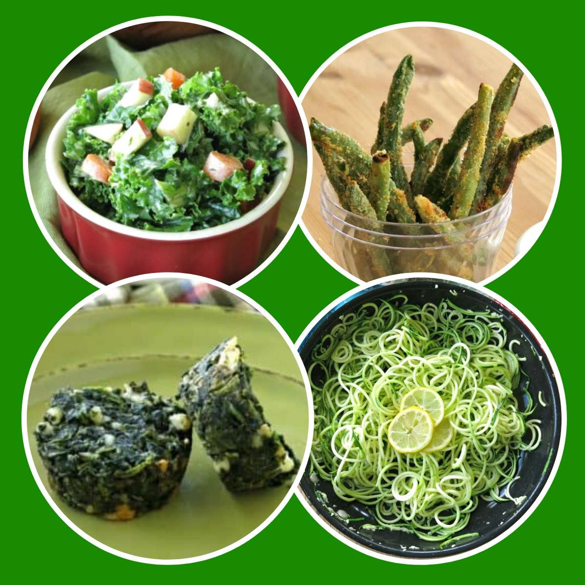 Collage of healthy green recipes