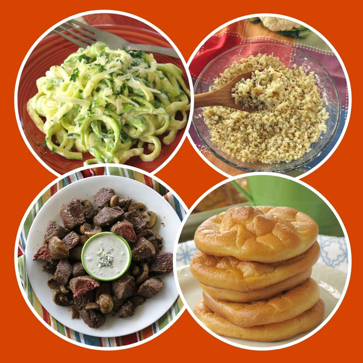 Collage of South Beach Diet Phase 1 recipes