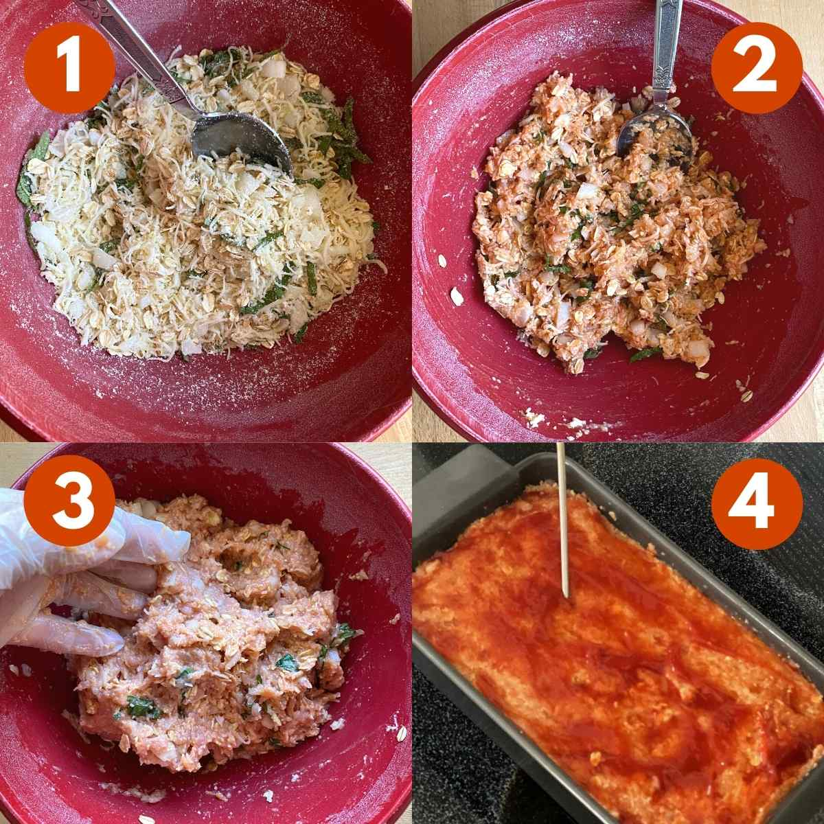 Picture Collage of 4 steps to make the recipe.