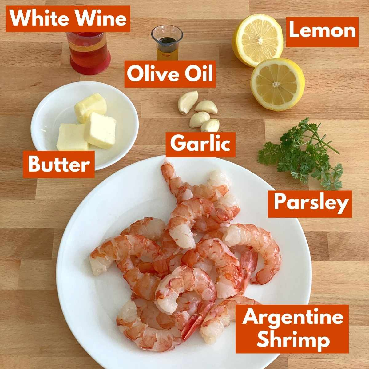 Picture with labeled ingredients to make the recipe.